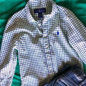 Ralph Lauren Shirt + Levi's Jeans Boys Size 8